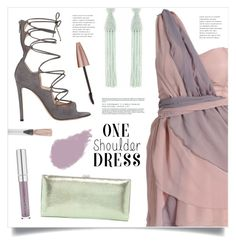 """""""Party Style: One-Shoulder Dress"""" by marina-volaric ❤ liked on Polyvore featuring Gianvito Rossi, Lodis, Oscar de la Renta, Bobbi Brown Cosmetics, Maybelline, Yves Saint Laurent and dress"""