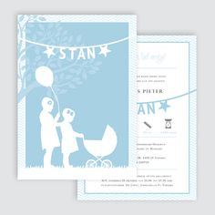 Geboortekaartje Stan, ontworpen door Ontwerp Studio Rottier