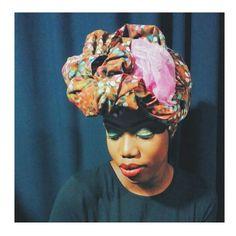 W.m_scarf beautiful modèle . #turbanstyle #africa #colors #makeup #headwrap #turban