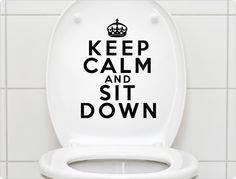 WC Aufkleber - Keep calm and sit down
