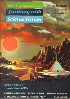 Fantasy and Science Fiction, Nov. 1954, cover by Chesley Bonestall