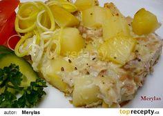 Zapečené kuřecí maso s bramborami recept - TopRecepty.cz Potato Salad, Macaroni And Cheese, Good Food, Potatoes, Ethnic Recipes, Czech Recipes, Mac And Cheese, Potato, Healthy Food
