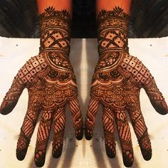 Bridal Mehndi Designs, Bridal Henna, Henna Patterns, Hand Henna, Hand Tattoos, Arm Tattoos