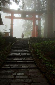 Haguro, Yamagata, Japan (by Ah Bee Panda) Yamagata, Pandaren Monk, The Places Youll Go, Places To Visit, Timor Oriental, Japon Illustration, Plakat Design, Japan Photo, Dojo