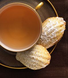 """Vanilla Madeleines from """"Baking for Friends"""" by Kathleen King. These famous French shell-shaped cookies are more like miniature sponge cakes. Vanilla is the classic flavor, but orange and lemon zest additions are very good, too. ❤️"""