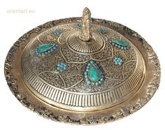 Silver Plated islamic hand hammered Lapis Persian Afghanistan fruit bowl No:E