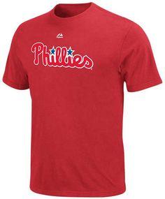 Majestic Men's Big and Tall Philadelphia Phillies Official Wordmark T-Shirt
