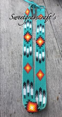Turquoise Feather Beaded Hat band - Stylish and striking hatband done in Turquoise blue seed beads, will fit all hats with adjustable b - Loom Bracelet Patterns, Bead Loom Bracelets, Bead Loom Patterns, Weaving Patterns, Embroidery Bracelets, Art Patterns, Mosaic Patterns, Painting Patterns, Color Patterns