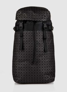Issey Miyake - Triangle Pattern Black Soft Bag Structure