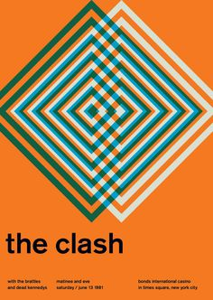"""Love Swiss design and punk music/modern rock? NYC designer Mike Joyce (no, not the Smiths' former drummer) redesigned 200 show posters — 1 of 4 """""""" #poster"""