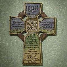 """Irish Bedtime Blessing"" Cross from IRISHOP.com"