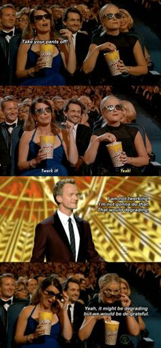 Tina Fey & Amy Poehler heckle Neil Patrick Harris at the 2013 Emmys