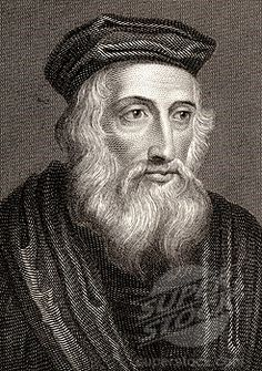 John Wycliffe 1320 - 1384, translated the Bible to English. The Roman Catholic Church decreed him a heretic and ordered his writings to be burned. The pope also ordered the exhumation and burning of his corpse.