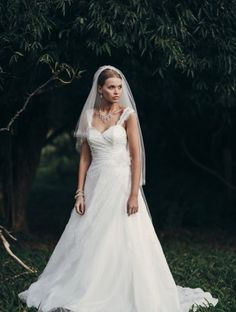 Adore Anna   www.devarga.com.au  wedding | gown | dress | lace | full skirt | veil | fashion | Australian Designer | bridal | boutique | Elizabeth de Varga Exclusive Fashions