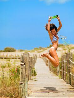 bathing suit, beach, bikini...how do you time it so perfect?