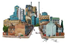 My #painting of The Tate and Lyle sugar factory in Silvertown, London
