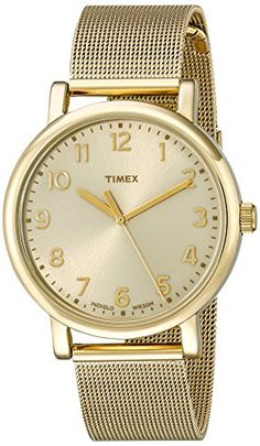 Women's Wrist Watches - Timex Unisex T2N598AB Originals Analog Display Quartz Gold Watch *** Click image for more details.