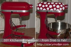 Did you know you can use Silhouette Premium Vinyl to transform your Kitchenaid mixer from drab to DIY fab? You can and you wont believe how easy it is! Plus, enter to win a Silhouette Portrait™! #giveaway