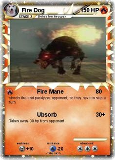 pokemon dogs Fire | Pokémon Fire Dog 5 5 - Fire Mane - My Pokemon Card