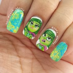Inside Out nails: Disgust!