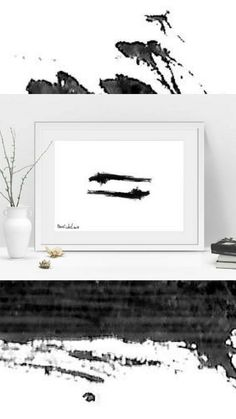 """High quality original framed black & white print titled - """"Yin Yang"""", abstract free form. This print is a part of a series called - """"Untitled Project"""" This white & black print is delivered framed, ready to hang."""