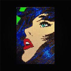 Lichtenstein inspired perler bead art von DearGawd auf Etsy