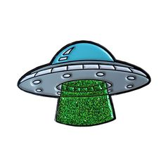Sugar & Vice UFO Enamel Pin