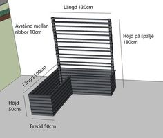 Cultivation boxes with trellises - in collaboration with Hornbach Scandinavian Garden, Scandinavian Style Home, Growing Gardens, Small Gardens, Landscaping Retaining Walls, Backyard Landscaping, Outdoor Plants, Outdoor Gardens, Potted Plants