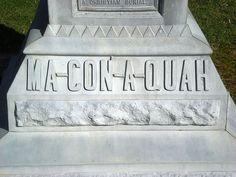 Frances Slocum's burial at Frances Slocum Cemetery, Somerset, Indiana