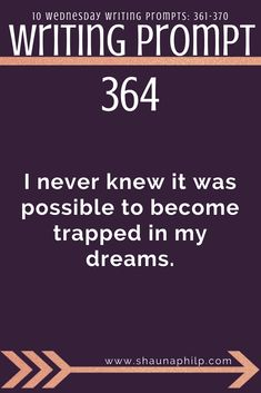 Writing prompt: I never knew it was possible to become trapped in my dreams.