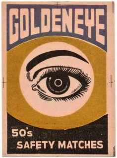Golden Eye, 1970's matchbox label.
