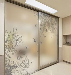 Online Shop Decorative self adhesive/static cling stained window film custom sticker mirror glass film door stickers birds on the branch Glass Wardrobe, Wardrobe Door Designs, Wardrobe Design Bedroom, Bedroom Cupboard Designs, Bedroom Cupboards, Bedroom Designs, Wardrobe Room, Bedroom Doors, Door Stickers