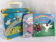 My Little Pony Travel Case and 2 My Little Pony Record Read Along Books 1985 #KidStuff