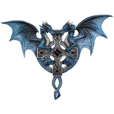 Dragon Duo Wall Plaque Anne Stokes. Part of the Gothic and Alternative Home Décor section at ANGEL CLOTHING