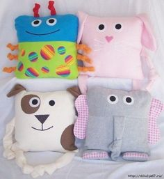 We sew pillows for children.  Ideas for inspiration.