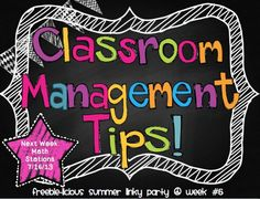 Classroom management tips GALORE! Get some new tips and tricks from an experienced teacher/bloggers!