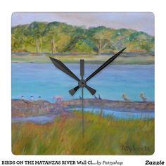 BIRDS ON THE MATANZAS RIVER Wall Clock