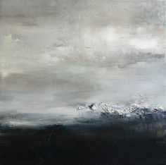 Xanthippe Tsalimi - Black and white, oil on canvas