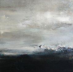Xanthippe Tsalimi - Black and white, oil on canvas