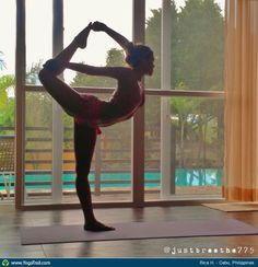 """#Yoga Poses Around the World: """"Dancer Pose taken in Cebu, Philippines by Rica H."""""""