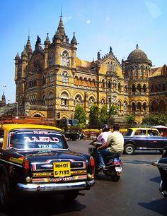 Chhatrapati Shivaji Terminus Marathi is Mumbai, India's train station and a UNESCO World Heritage Site.  by Hueystar