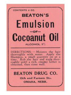 Beaton's Emulsion of Cocoanut Oil Premium Poster