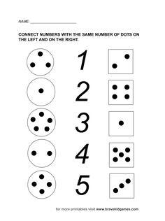 Cuando enseñamos números a niños de 3, 4 y 5 años debemos hacerlo mediante juegos y canciones , contando diario aprenderán rápido , per... Kindergarten Worksheets, Fun Math, Preschool Activities, English Activities, Math Concepts, Connection, Numbers, Homeschool, Dots