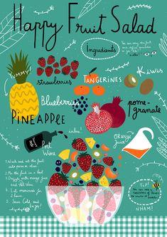 Happy Fruit Salad by Ana Seixas, via Behance