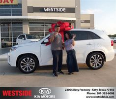 #HappyAnniversary to Erida Moreno on your 2014 #Kia #Sorento from Everyone at Westside Kia!