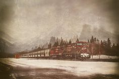 """""""Canadian Pacific In Banff"""", my latest artwork available now exclusively at Fine Art America!"""