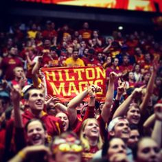 We love seeing cyclONEnation decked out in cardinal and gold. Iowa State Cyclones, House Divided, Sweet Caroline, Men's Basketball, Alma Mater, College Life, Lovely Things, Cool Places To Visit, Aunt