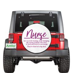 Custom Spare Tire Covers, Jeep Spare Tire Covers, Nurse Definition, Line Worker, Nurse Quotes, Drip Dry, Funny Design, Car Accessories, Definitions