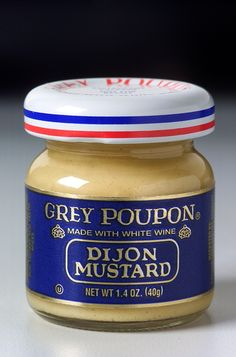 One should always be prepared for the sorry occasion that Grey Poupon is not available at one's destination. Travel size: never leave the estate without it! #greypoupon