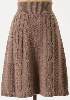 Antropologie cable knit skirt